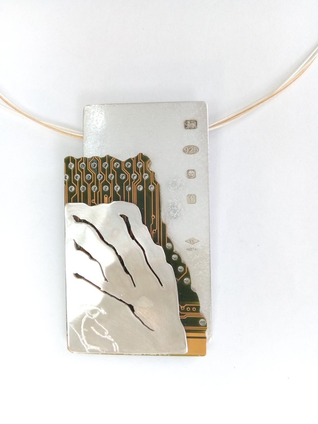 Upcycle Landscape pendant