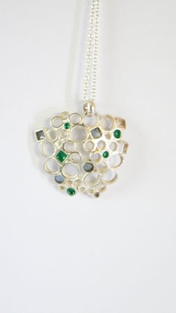 Circle&Square Blue/Green pendant