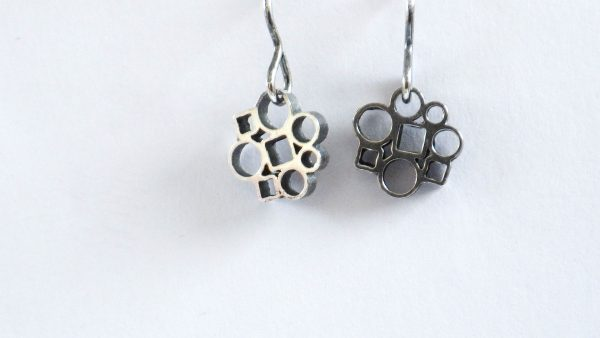 Circle&Square Black earrings