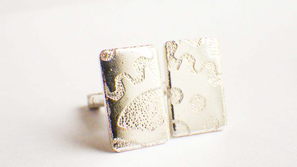 Silver Cogs cufflinks
