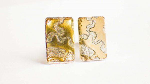 Silver & Gold Cogs cufflinks